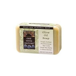 Dead Sea Mineral Olive Oil Soap - 7 oz by One With Nature