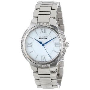 Citizen シチズン レディース腕時計 エコドライブ Women's EM0090-57A Ciena Eco-Drive Stainless Steel Watch
