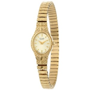 Citizen シチズン レディース 腕時計 Women's EK3682-97P Gold-Tone Expansion Bracelet Watch