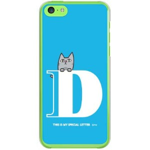【送料無料】 letter&cat ブルー D (クリア) design by PansonWorks / for iPhone 5c/au 【SECOND SKIN】【ハードケース...