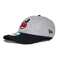 (ニューエラ) NEW ERA CLEVELAND INDIANS 【THE LEAGUE 9FORTY ADJUSTABLE/HEATHER GREY-NAVY】 クリーブランド インディアンス ...