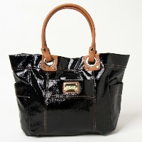 NINE WEST ナインウエスト Frequent Flyer エナメルトートバッグ 【送料無料】 バッグ tote bags