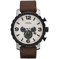 Fossil フォッシル メンズ腕時計 JR1390 Nate Leather Watch - Brown