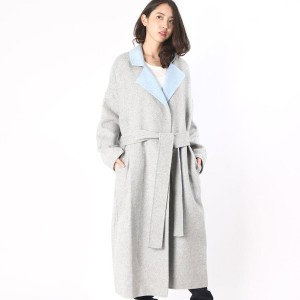 【SALE 65%OFF】デレクラム テン クロスビー DEREK LAM 10 CROSBY DROPPED SHOULDER TRENCH (grey/pale blue)