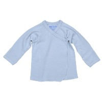 Under the Nile Organic Cotton Side Snap Baby Tee (3-6M, Blue) by Under the Nile