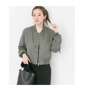 UR ALPHA INDUSTRIES×URBAN RESEARCHiD 別注LOOSE FIT MA-1【アーバンリサーチ/URBAN RESEARCH レディス ミリタリージャケット GRAY...