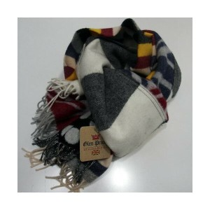 GLEN PRINCE(グレンプリンス)[Pure New Wool Scarf-Muffler/Lot.SLW117-Multi]Made in Scotland/スカーフ/ストール/マフラー...
