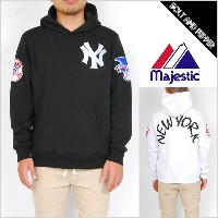 MAJESTIC.ATHLETIC SWEAT PULLOVER PARKER NEW YORK YANKEES BLACK WHITE マジェスティック アスレティック プルオーバー パーカー...