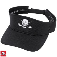 Tattoo Golf FlexFit Golf Visor w/ Skull Design【ゴルフ ゴルフウェア>帽子】