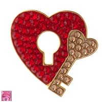 Bonjoc Ladies Key to My Heart Ball Markers by Seema Sparkle【ゴルフ レディース>ボールマーカー】