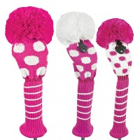 Just 4 Golf Ladies Pink and White Dot Headcovers【ゴルフ レディース>ヘッドカバー】