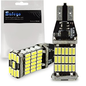 Safego Canbus T10 T15 T16 LED バルブ キャンセラー内蔵 12V車用 2個入 無極性 爆光 最新 高品質 高輝度 クリアランスランプ 45連 SMD 搭載 SMD...