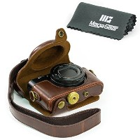 MegaGear 'Ever Ready' Protective Dark Brown Leather Camera Case , Bag for Sony DSC-RX100M II Cyber...