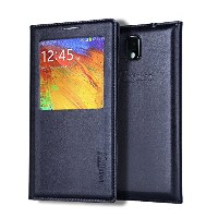 Note 3 ケース, Galaxy Note 3 ケース, Huijukon Elegant S-view Smart Flip Leather ケース カバー with Auto Sleep...