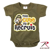 Rothco Infant Too Cute To Recruit One Piece, Olive Drab, 67150 …9-18 Months
