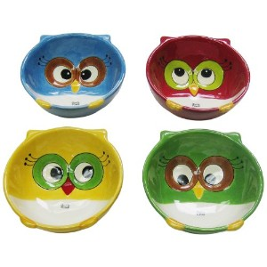 Cosmos Gifts 10914フクロウBowls、5by 1–7/ 8by 4–7/ 8インチ、4のセット
