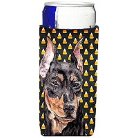 German Pinscher Candy Corn Halloween Ultra Beverage Insulators forスリム缶sc9668muk