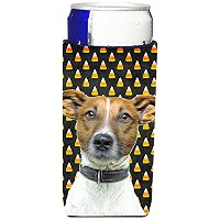 Candy Corn Halloweenジャックラッセル・テリアUltra Beverage Insulators forスリム缶kj1211muk