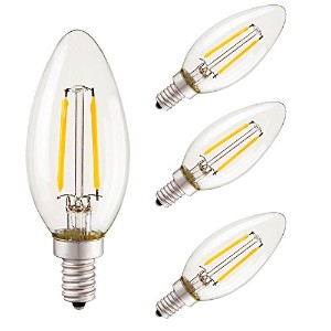 b-1001 – 212 – 211 – 4-6-buttonwood- LEDライト電球 C35-2w (Pack of 4)