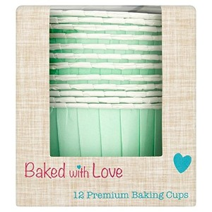 Aqua Baking Cups - from Baked with Love