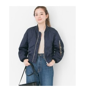 UR ALPHA INDUSTRIES×URBAN RESEARCHiD 別注LOOSE FIT MA-1【アーバンリサーチ/URBAN RESEARCH レディス ミリタリージャケット NAVY...
