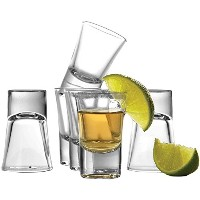Circleware Conquer Clear Heavy Baseショットガラスセット、1.5オンス、6のセット、Limited Edition Glassware Drinkware...