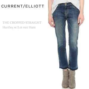 【SALE】Current Elliott(カレントエリオット)THE CROPPED STRAIGHT Hartley W/ Let Out Hemクロップドストレート/ヴィンテージカラー