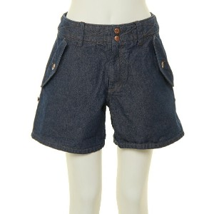 【SALE/50%OFF】HANA TO GUITAR COLOR DENIM SHORT PANTS with PRINT ハナトギター パンツ/ジーンズ【RBA_S】【RBA_E】【送料無料】