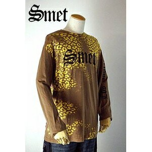 smet(スメット) long tee flagskull(men's) brown M