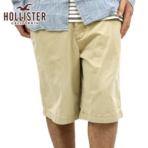 【25%OFFセール 7/08 20:00〜7/13 1:59】 ホリスター HOLLISTER 正規品 メンズ ショーツ Hollister Classic Fit Shorts KHAKI