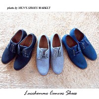 Lucehomme Canvas Casual Lace-up Shoes【RCP】ブラチアーノ キャンバス カジュアル シューズ 送料無料 ネービー ブラウン グレー ブラック