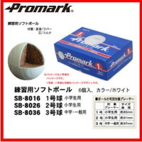 promark プロマーク 練習用ソフトボール 1号球 小学生用 6球入 SB-8016 85mm(ソフトボール ソフト ソフト用 練習球 部活 ) 02P03Dec16