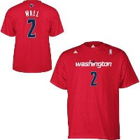 NBA ジョン・ウォール Tシャツ(レッド)ウィザーズ adidas Washington Wizards John Wall Red Game Time T-Shirt