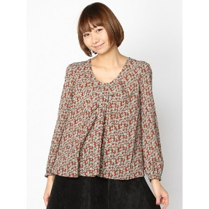 【SALE/50%OFF】PAL GROUP OUTLET [アウトレット]【W】【mystic】フラワーリボンブラウス アウトレット シャツ/ブラウス【RBA_S】【RBA_E】【送料無料】