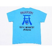 Buzz Rickson's[バズリクソンズ] Tシャツ 87th INFANTRY AIRBORNE BR76680 (TURQUOISE)