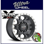 【新品アルミホイール単品1本価格】18インチ【ULTRA WHEEL X102 Xtreme X-Lok】18×9.0J 6/139.7+1【SatinBlack/Machined X-Lok...