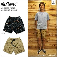 【WILDTHINGS/ワイルドシングス】CLIMBER PRINT CLIMBING SHORT 2color