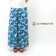 【SS】alternative apparel オルタナティブアパレル レディース Haiku Taki Wash Maxi Skirt[13009T6]