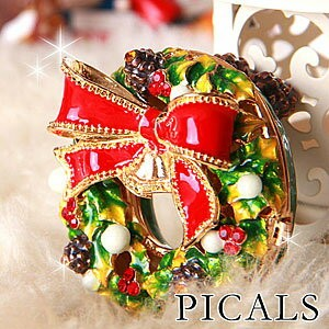 PICALS クリスマスリース 暗闇で光るジュエリーボックス【HLS_DU】【RCP】P15Aug15