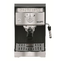 KRUPS(クラプス) XP5220 Precise Tamp Pump Espresso Machine, Black and Stainless 【並行輸入品】