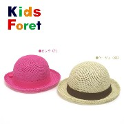 ☆50%OFFセール!2014夏【Kids Foret/キッズフォーレ】ペーパー丸ハット≪50-56cm≫こども服 キッズ 帽子 ハット