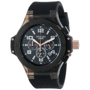 Mulco マルコ 男女兼用腕時計 Unisex MW2-9619-025 Black Stainless Steel Watch with Silicone Strap
