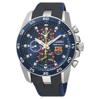 Seiko Sportura セイコー スポーチュラ バルセロナ メンズ腕時計 FC Barcelona Chronograph Blue Dial Blue Silicone Mens Watch SPC089P2