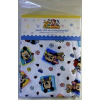 Disneyベビーミッキーマウスジャージニットブランケット(おくるみ/Babies Mickey Mouse Jersey Knit Receiving Blanket