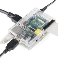 【送料無料】Raspberry Pi Type B 512MB ケースセット Pi Tin for the Raspberry Pi - Clear