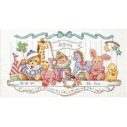 Dimensions(ディメンジョンズ) Needlecrafts Counted Cross Stitch クロスステッチキット Toy Shelf Birth Record 出産祝いに最適...