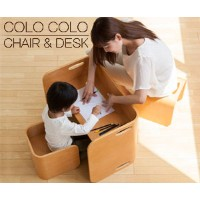 【COLOCOLO CHAIR&DESK】コロコロ チェア&デスク 3点セット /デスク /キッズデスク /ベビーチェア /キッズチェア