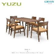 35%OFF [ダイニング7点セット] GREEN home style YUZU DINING TABLE B180 + ARM CHAIR F + SIDE CHAIR F (グリーン...