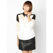 【SALE/50%OFF】PAL GROUP OUTLET [アウトレット]【W】レースバイカラーシャツ アウトレット シャツ/ブラウス【RBA_S】...