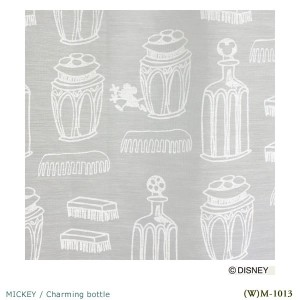 Disney MICKEY Charming bottle Voile&Lace100×133cm 1.5倍ヒダ 1枚 既成カーテンレースカーテン MICKEY 日本製(代引不可)(送料無料...